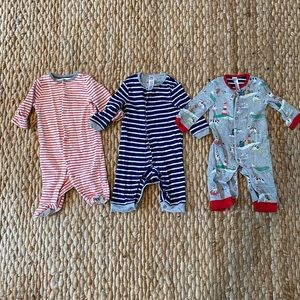 LOT of Baby Boden Sleep and Play suits